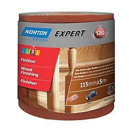 Norton Expert 120 Grit Sandpaper Roll (L)5m (W)115mm