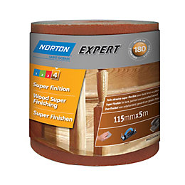 Norton Expert 180 Grit Sandpaper Roll (L)5m (W)115mm