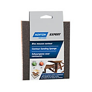 Norton Expert 100/60 Grit Fine/medium Contour sanding sponge, Pack of 2