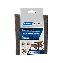 Norton Expert 100/60 Grit Fine/medium Contour sanding sponge,