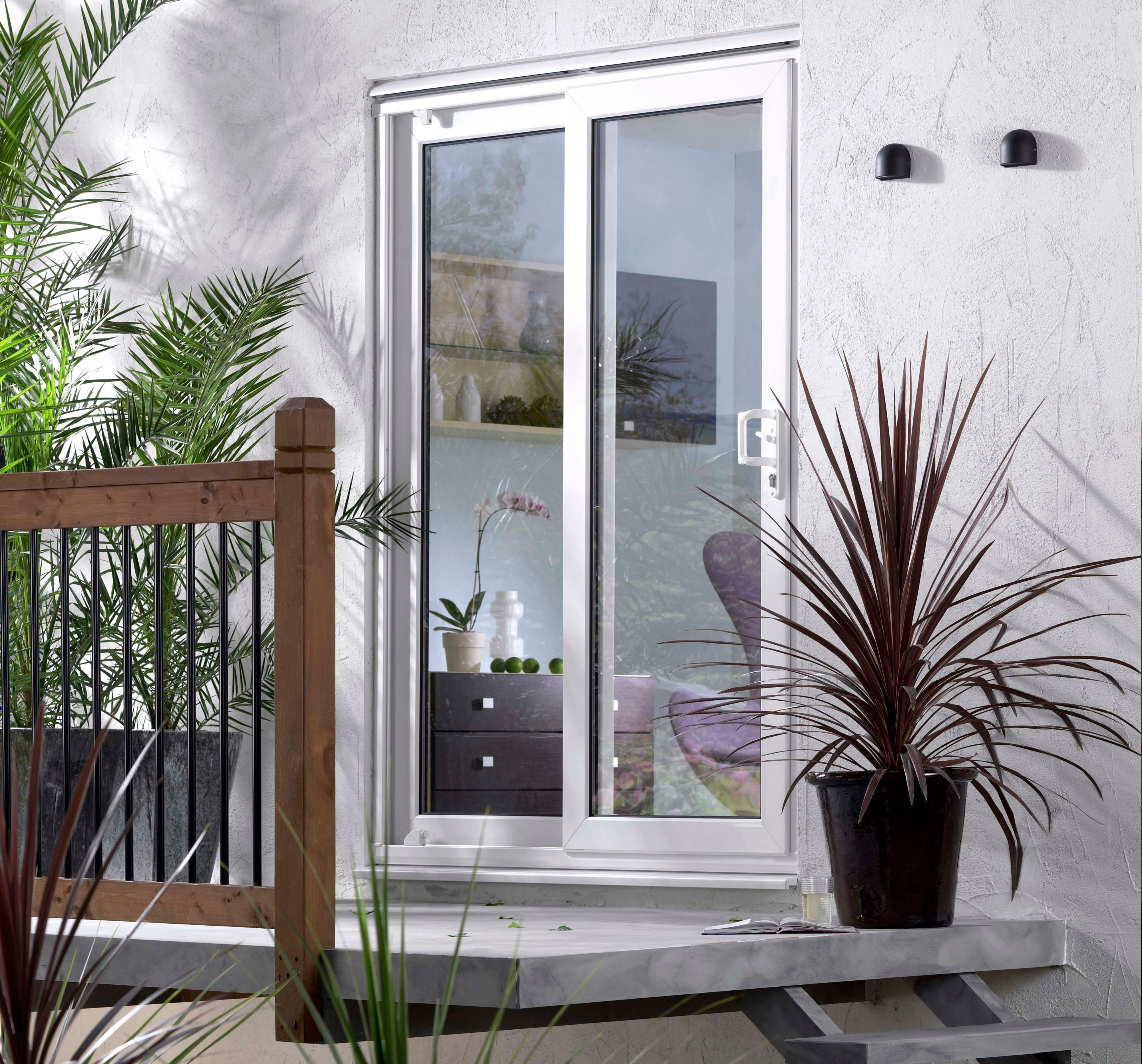 5ft White Glazed PVCu PVCu External Sliding Patio