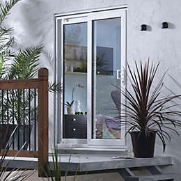5ft White PVCu Glazed Fixed Patio Door Panel,