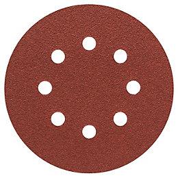 Bosch 80 Grit Sanding Sheet (Dia)125mm, Pack of