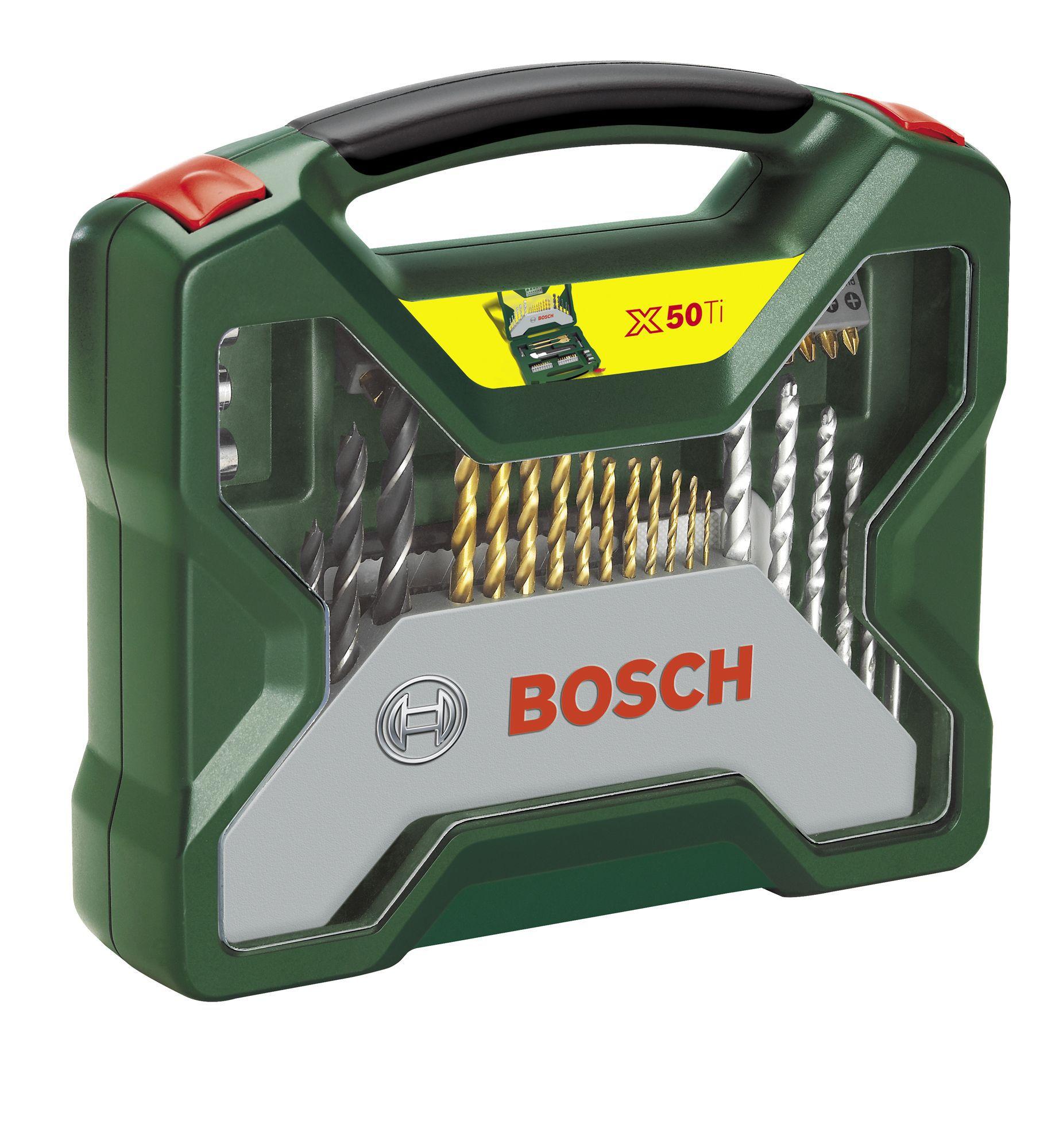 bosch x line mixed drill bit accessory set 50 piece departments diy at b q. Black Bedroom Furniture Sets. Home Design Ideas
