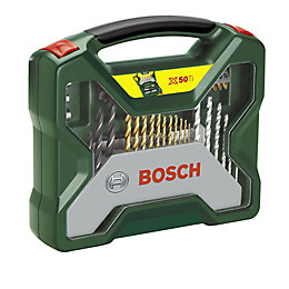 Bosch X-Line Mixed Drill Bit Accessory Set, 50