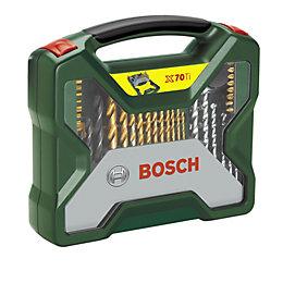Bosch X-Line Mixed Drill Bit Accessory Set, 70