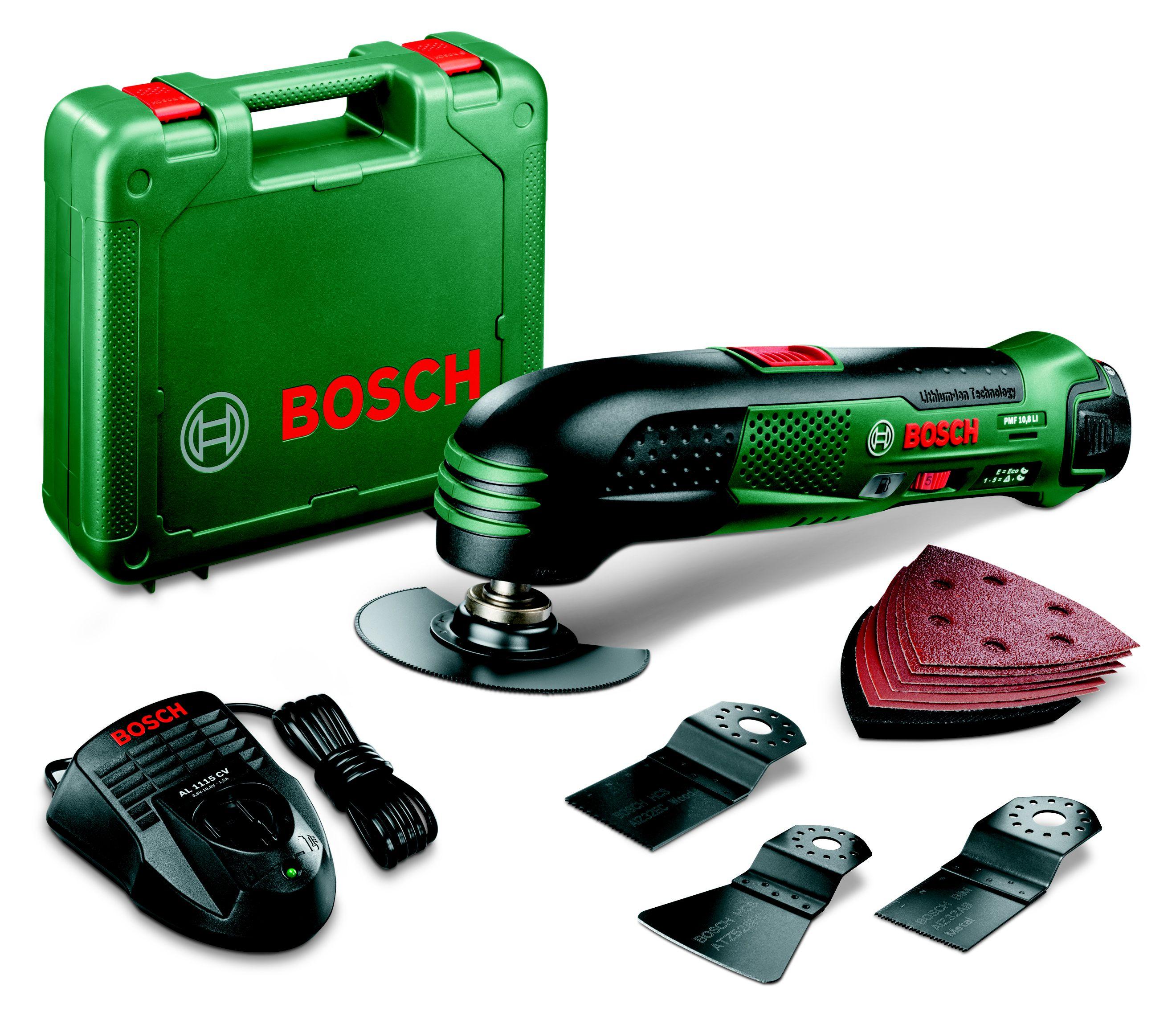 bosch cordless 10 8v multi tool set 1 battery pmf 10 8 li multi tools hobby tools diy at b q