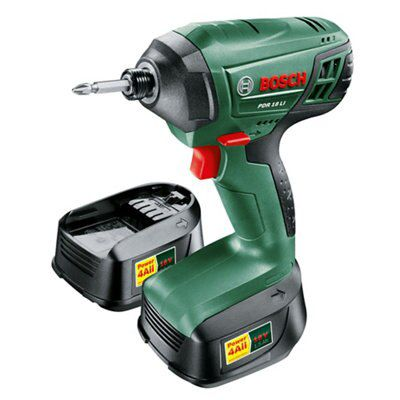 bosch cordless 18v 1 5ah li ion impact driver 2 batteries. Black Bedroom Furniture Sets. Home Design Ideas