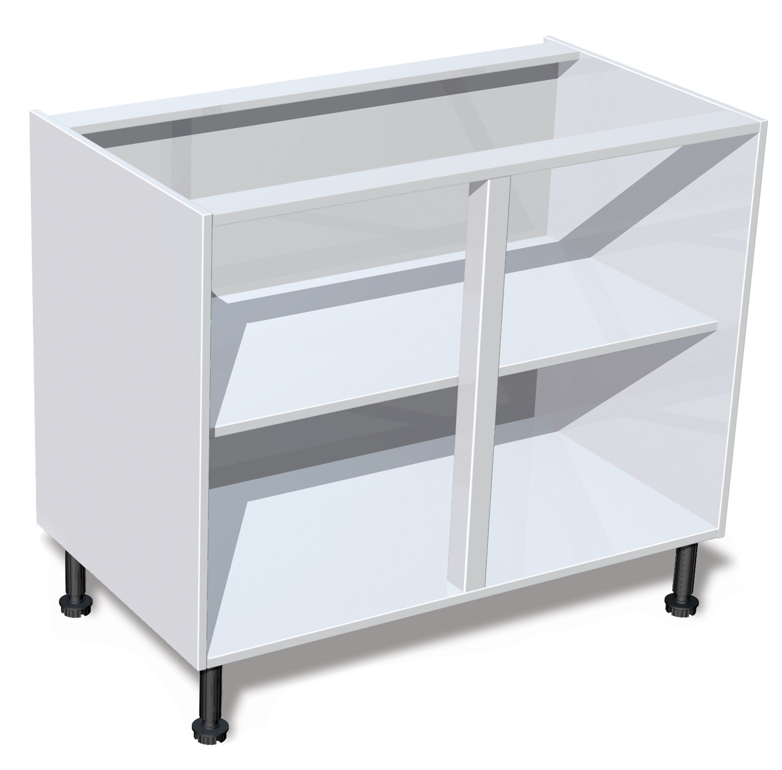 IT Kitchens White Standard Base Cabinet (W)1000mm | Departments ...