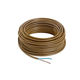 Nexans 2 core Cable 0.75mm² Brown 25 m