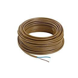 Nexans 2 core Flex cable 0.75 mm² Brown