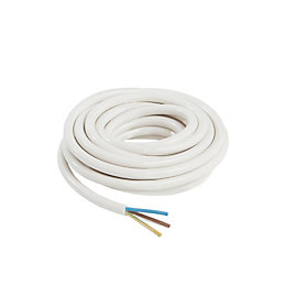 Nexans 3 core Heating cable 0.75mm² White 5