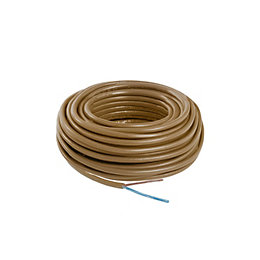 Nexans 2 core Cable 0.75mm² Brown 10 m