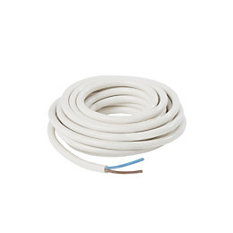 Nexans 2 core Cable 1.5mm² White 5 m