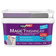 Toupret Fine finish Ready mixed Smoothover finishing plaster kit 6kg