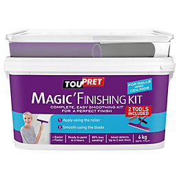 Toupret Fine finish Ready mixed Smoothover finishing plaster