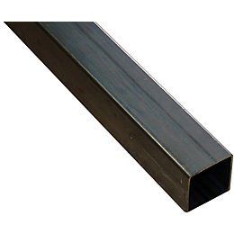 Varnished Steel Square Tube (H)12mm (W)12mm (L)1m