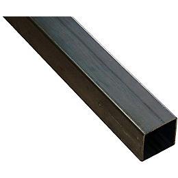 Varnished Steel Square Tube (H)25mm (W)25mm (L)1m
