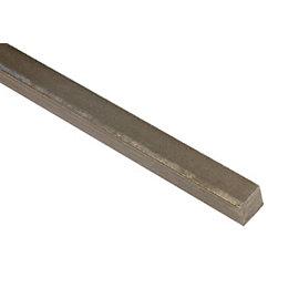 Varnished Steel Square Profile (H)4mm (W)4mm (L)1m