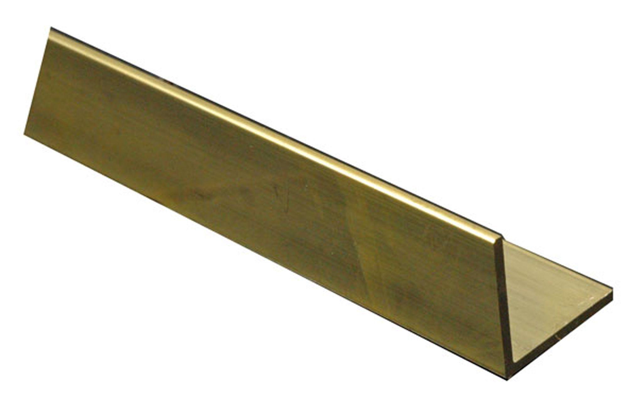 Brass Corner H 8mm W 8mm L 1m Departments Diy At B Amp Q