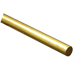 FFA Concept Brass Round Metal Rod (L)1m (Dia)8mm