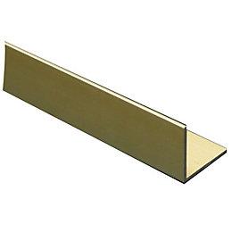 Anodised Aluminium Corner (H)15mm (W)15mm (L)1m