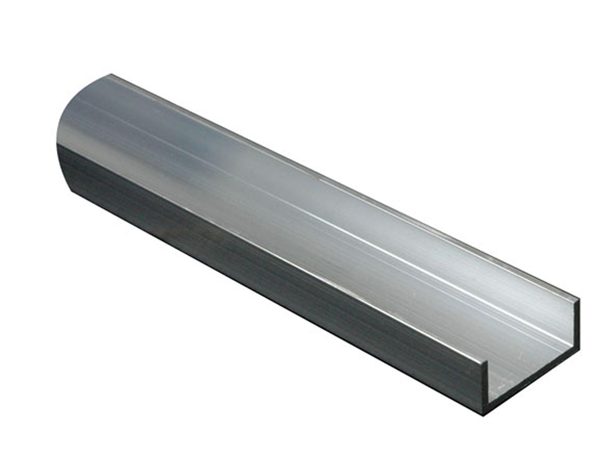 Aluminium U Profile H 20mm W 20mm L 1m Departments