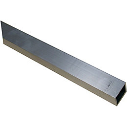Aluminium Square tube (H)20mm (W)20mm (L)1m