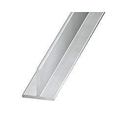 Aluminium T profile (H)15mm (W)15mm (L)1m