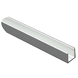 Anodised Aluminium U Profile (H)15mm (W)15mm (L)2m