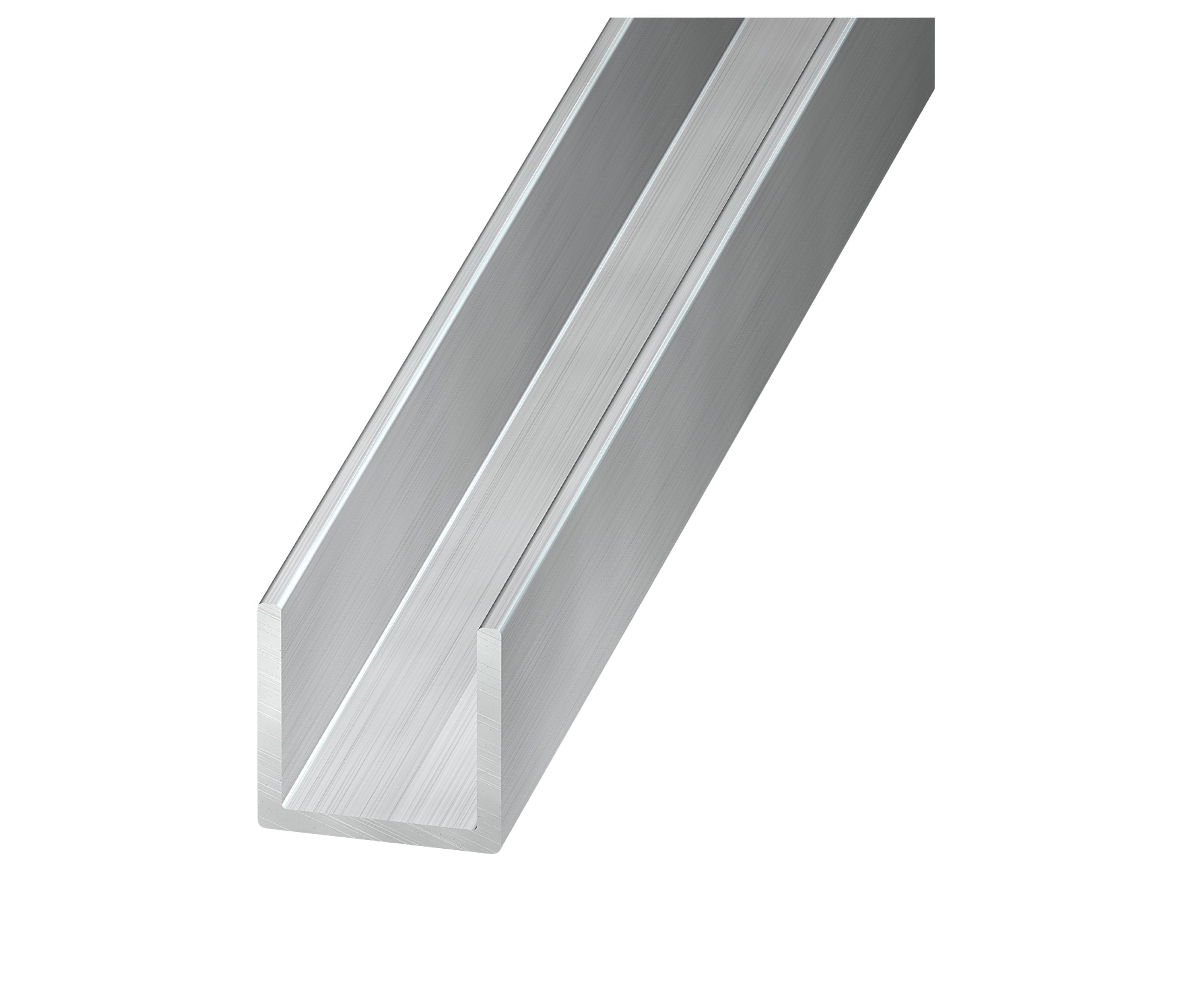 Aluminium U Profile H 6mm W 6mm L 1m Departments