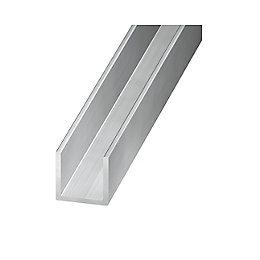 Aluminium U profile (H)8mm (W)8mm (L)1m