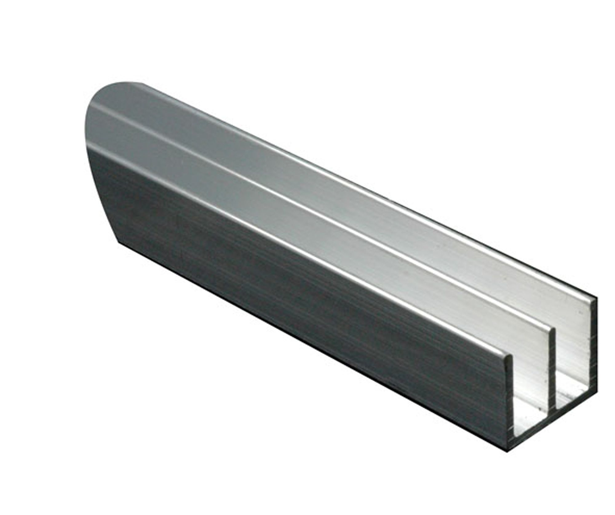 Aluminium Double U Profile H 10mm W 16mm L 1m