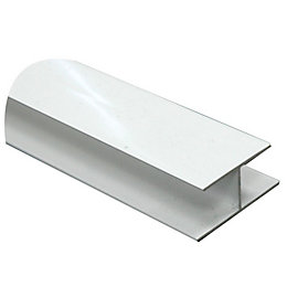 White PVC H Profile (H)15mm (W)16mm (L)1m