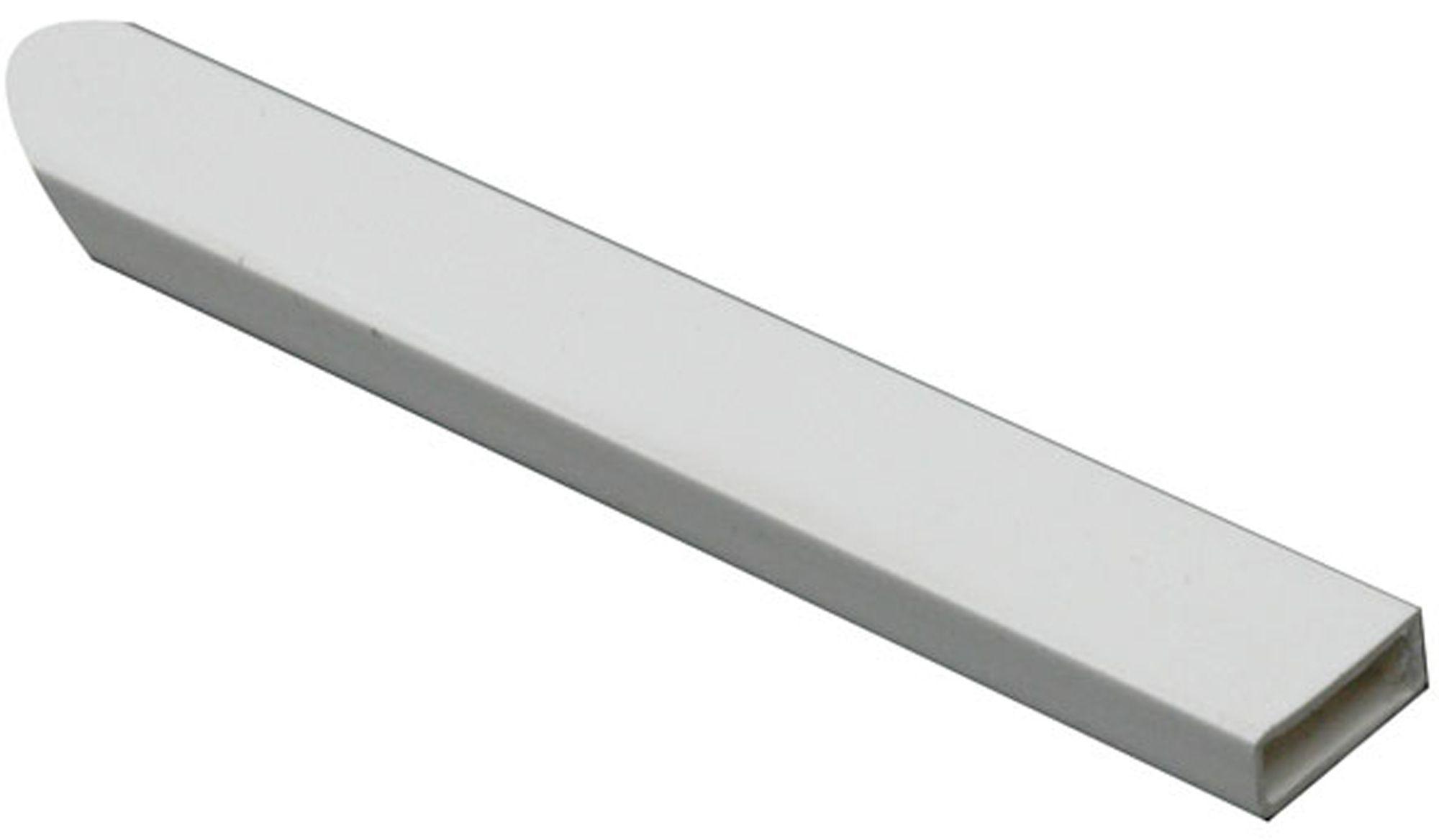 Ffa Concept White Pvc Rectangular Tube W 11 6mm L 1m
