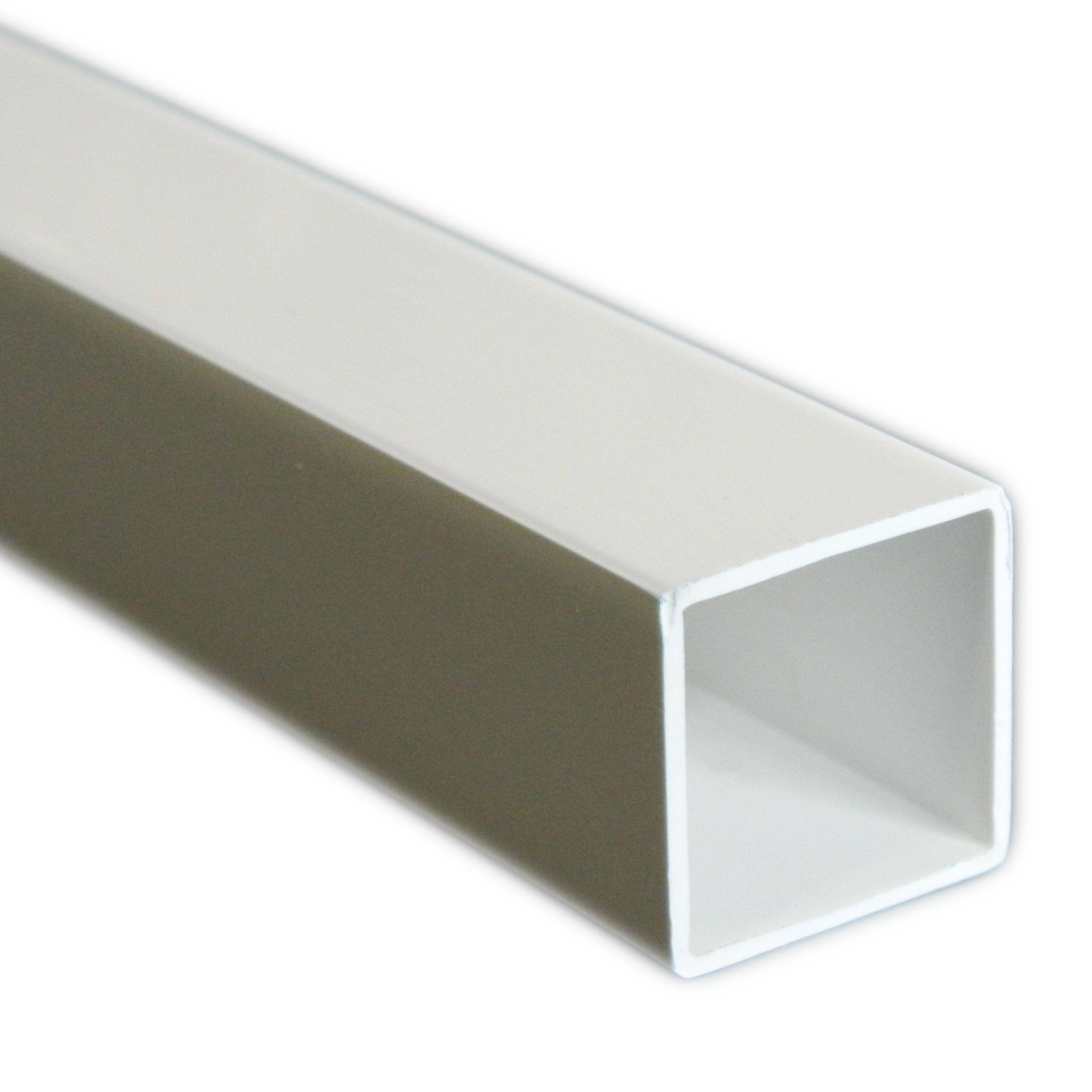 White Plastic Square Tube W 15mm L 1 M Departments