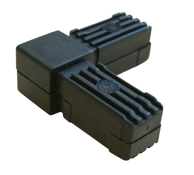 Black Pvc Square Tube Connectors H 20mm W 20mm
