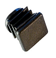 FFA Concept PVCu Black End fitting, Pack of 10