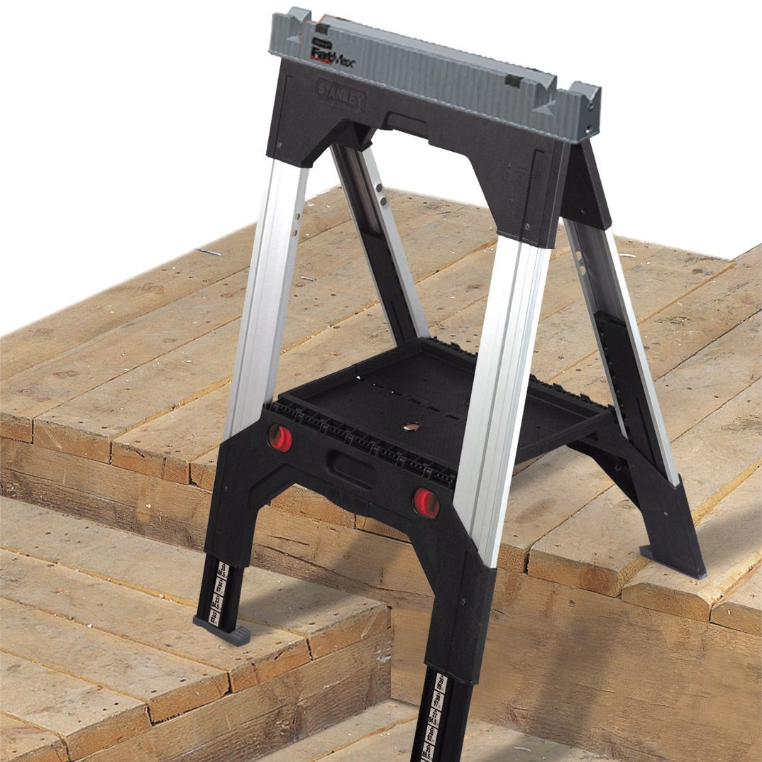 Stanley Foldable Folding Sawhorses Departments Diy At B Amp Q