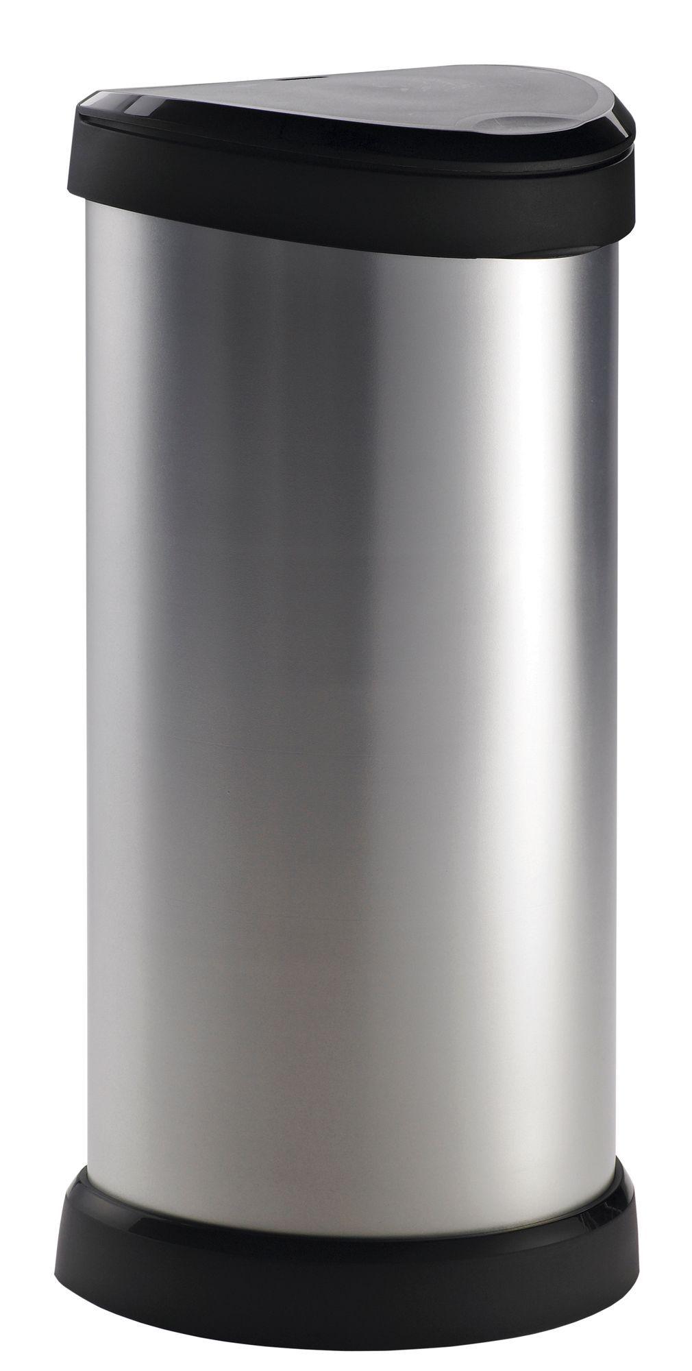 Curver Deco Metallic Effect Plastic Semi Circle Touch Top