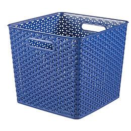 Curver My style Blue 25L Plastic Storage basket