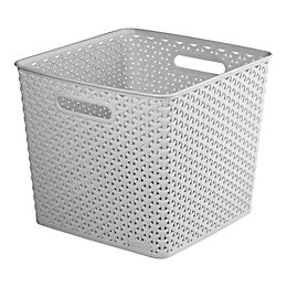 Curver My Style Grey 25L Plastic Storage Basket