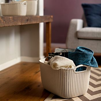 Curver knit collection Oasis plastic storage basket