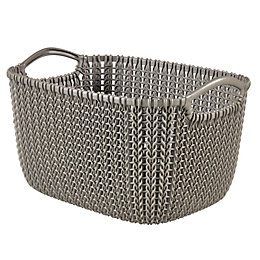 Knit collection Harvest brown 3L Plastic Storage basket