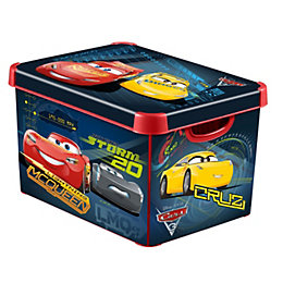 Disney Cars Decobox Dark Blue 22L Plastic Storage