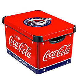 Coca-Cola Decobox Red 22L Plastic Storage Box