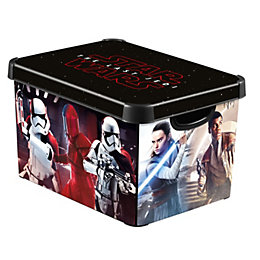 Disney Star Wars Decobox Black 22L Plastic Storage
