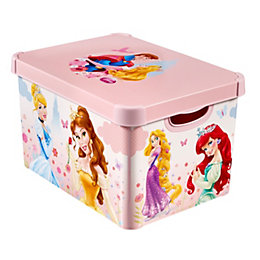 Disney Princess Decobox Pink 22L Plastic Storage box