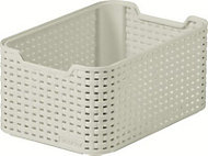 Curver Small vintage white rattan effect Basket