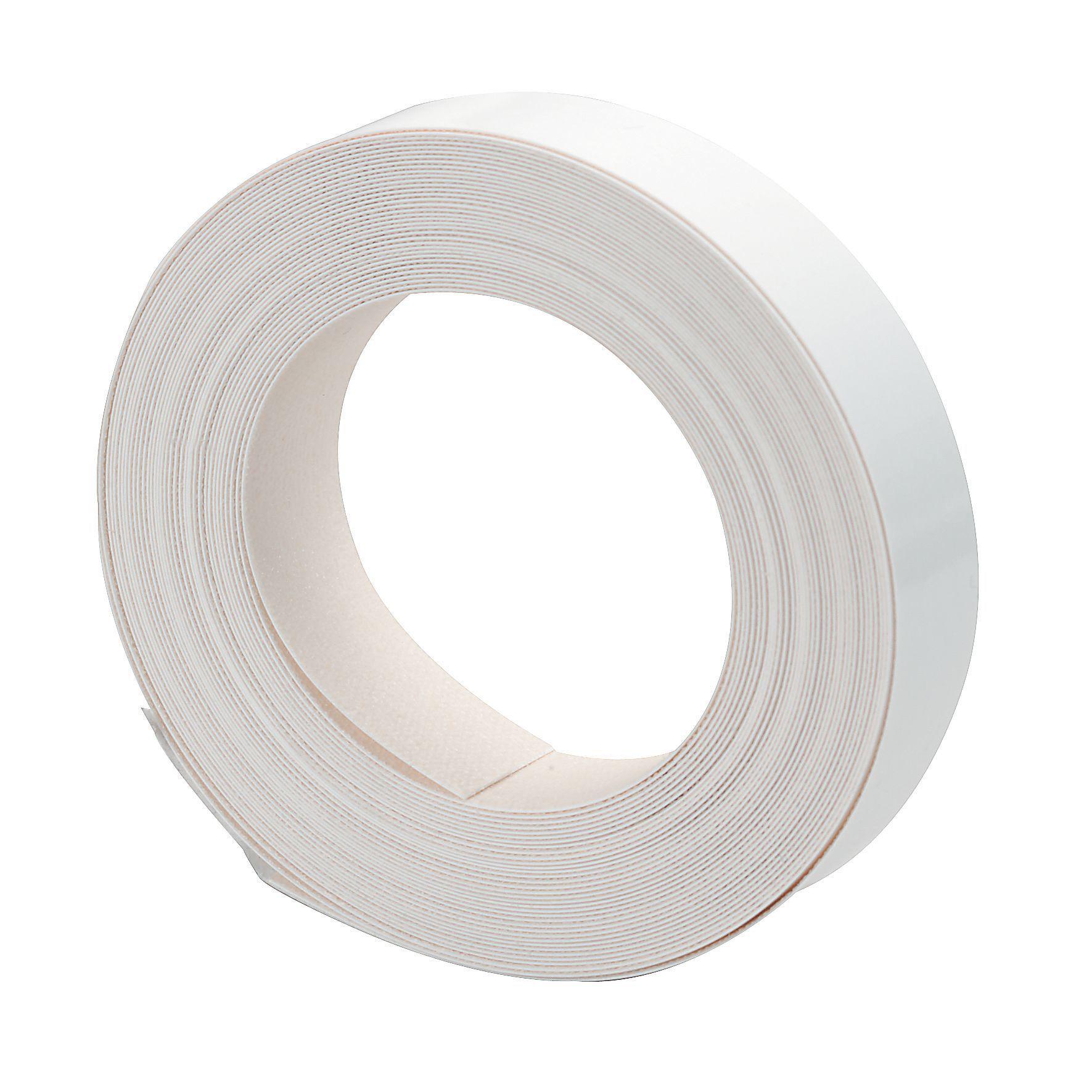It Kitchens Gloss White Gloss Edging Tape L 10 M